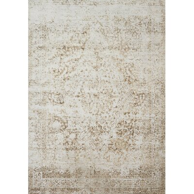 Jensen Champagne/Light Gray Area Rug Rug Size: Runner 27 x 12