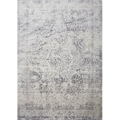 Jenson Silver/Light Gray Area Rug Rug Size: Square 16