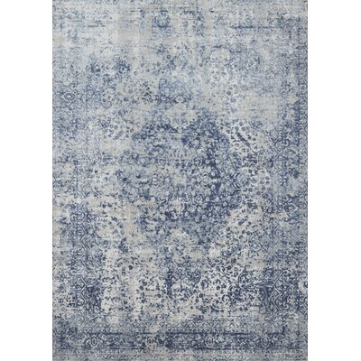 Jent Blue/Stone Area Rug Rug Size: Rectangle 53 x 78