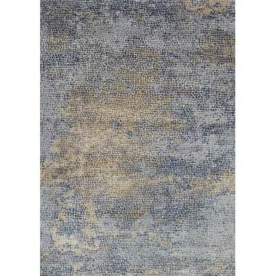 Bouton Ocean/Gold Area Rug Rug Size: Rectangle 96 x 13