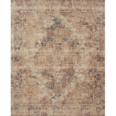 Dietrick Hand-Hooked Ivory Area Rug Rug Size: Rectangle 37 x 52