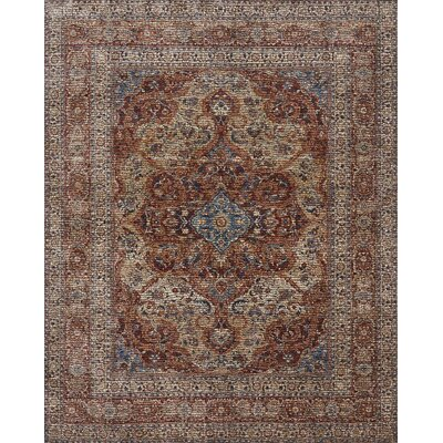 Dietrick Hand-Hooked Adobe Spice Area Rug Rug Size: Rectangle 96 x 126