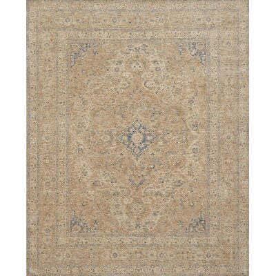Dietrick Hand-Hooked Beige Area Rug Rug Size: Rectangle 37 x 52