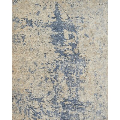Dietrick Beige/Blue Area Rug Rug Size: Rectangle 12 x 15