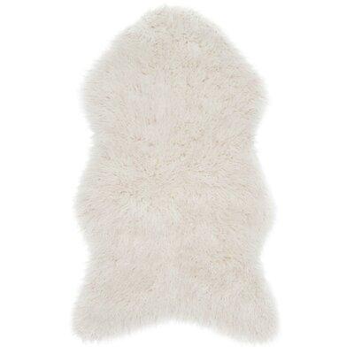 Lewter Ivory Area Rug Rug Size: 26 x 42