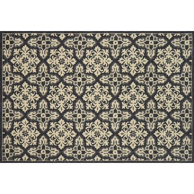 Duvig Hand-Hooked Ivory/Gray Area Rug Rug Size: Rectangle 76 x 96