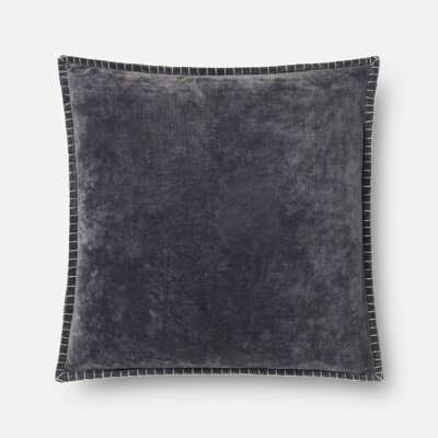 Fewell Cotton Throw Pillow Color: Gray