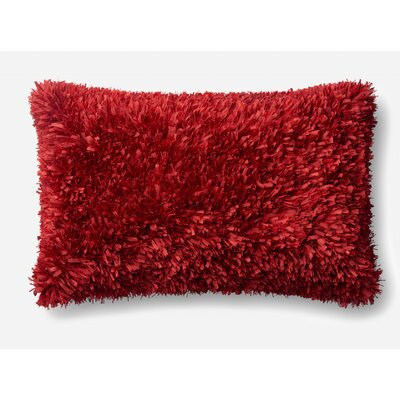 Brookstead Lumbar Pillow Type: Pillow Cover, Color: Red, Fill Material: No Fill