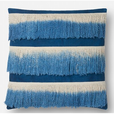 Cambra Cotton Throw Pillow Type: Pillow Cover, Color: Blue / Ivory, Fill Material: No Fill