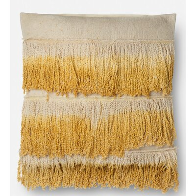 Cambra Cotton Throw Pillow Type: Pillow, Color: Gold/ Ivory, Fill Material: Down/Feather