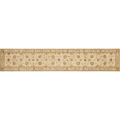 Durden Hand-Knotted Ivory Area Rug Rug Size: Runner 26 x 24