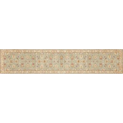 Durden Hand-Knotted Slate/Beige Area Rug Rug Size: Runner 26 x 24