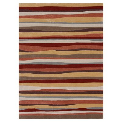 Hixon Hand-Tufted Orange Area Rug Rug Size: Rectangle 36 x 56