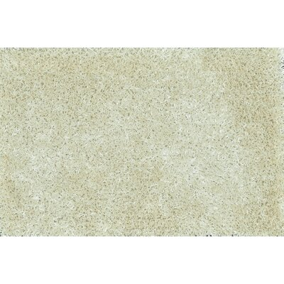 Carrera Shag Hand-Tufted Ivory Area Rug Rug Size: Rectangle 79 x 99