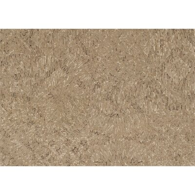 Diada Hand-Tufted Brown Area Rug Rug Size: 36 x 56
