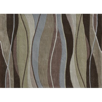 Hixon Hand-Tufted Brown/Green Area Rug Rug Size: 2 x 3