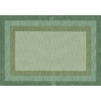 Keifer Hand-Tufted Green Area Rug Rug Size: Rectangle 5 x 76