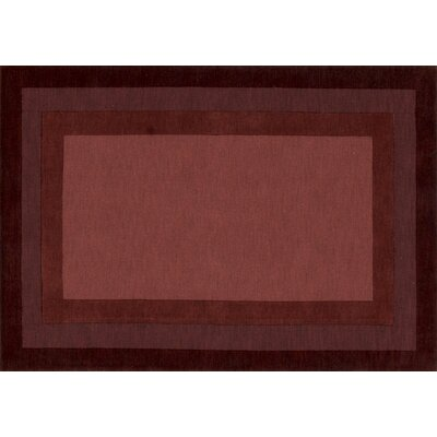 Hamilton Hand-Tufted Brown/Red Area Rug Rug Size: Rectangle 36 x 56
