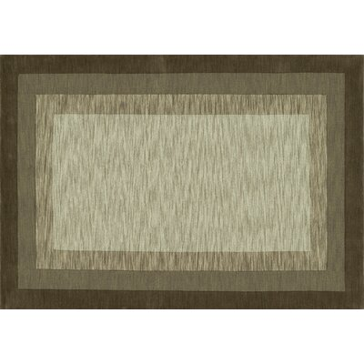 Hamilton Hand-Tufted Brown/Tan Area Rug Rug Size: 36 x 56