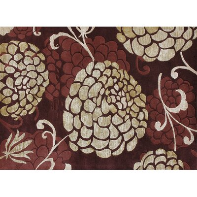 Kenton Hand-Tufted Wine Area Rug Rug Size: 5 x 76