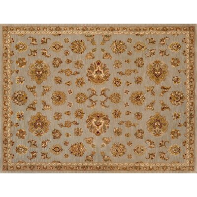 Maple Silver/Blue Rug Rug Size: Round 8'