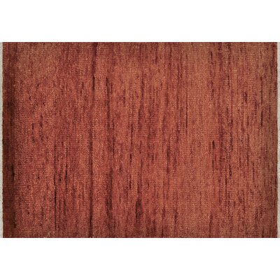 Phoenix Lavav Hand Knotted Wool Dark Red Area Rug Rug Size: 79 x 99