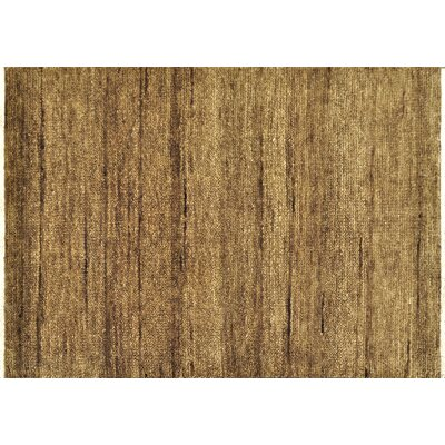 Clearman Hand-Knotted Mocha/Tan Area Rug Rug Size: Rectangle 56 x 86