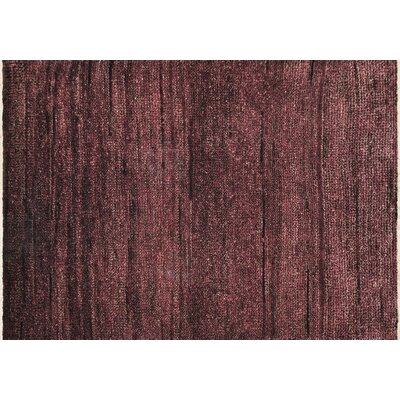 Clearman Hand-Knotted Plum Area Rug Rug Size: Rectangle 79 x 99
