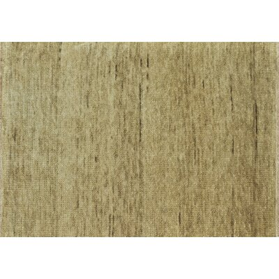 Clearman Hand-Knotted Sand Area Rug Rug Size: Rectangle 56 x 86