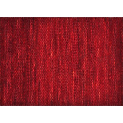 Royce Hand-Woven Red Area Rug Rug Size: 5 x 76