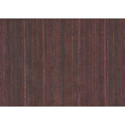 Resama Hand-Woven Raisin Area Rug Rug Size: 36 x 56