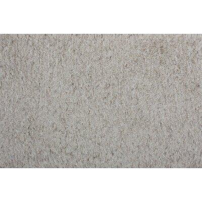 Royal Hand-Woven Grey Area Rug Rug Size: 36 x 56