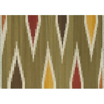 Zapata Hand-Woven Green Area Rug Rug Size: Rectangle 5' x 7'6