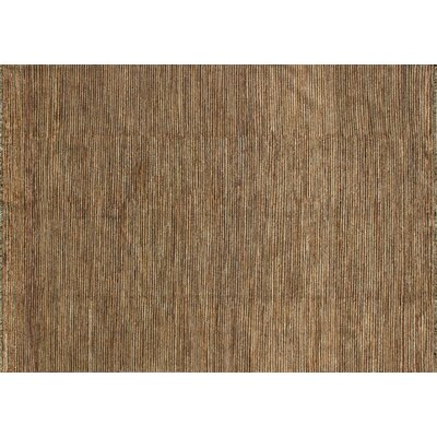 Transo Hand Knotted Wool Dark Brown Area Rug Rug Size: 56 x 86