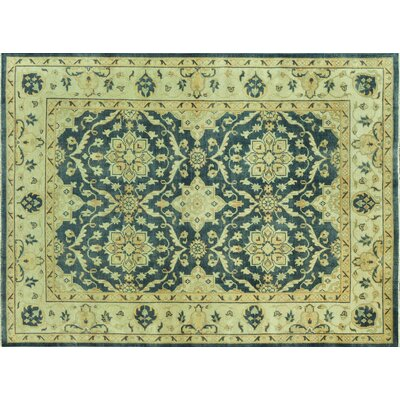 Kirtley Estate Hand-Knotted Blue/Ivory Area Rug Rug Size: Rectangle 2 x 3