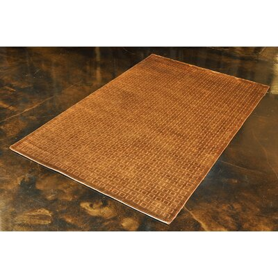 Westley Hand-Hooked Copper Area Rug Rug Size: 56 x 86