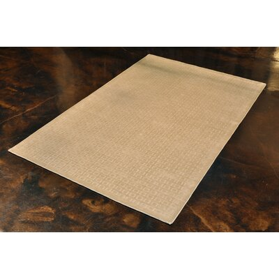 Westley Hand-Hooked Ivory Area Rug Rug Size: 56 x 86