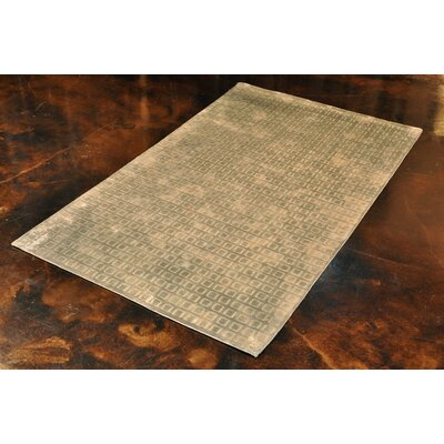 Zaragoza Hand-Hooked Mist Area Rug Rug Size: Rectangle 5'6