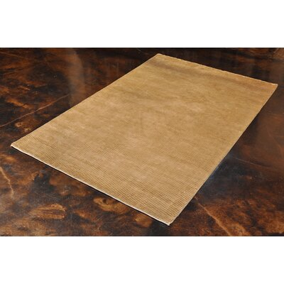 Zaragoza Hand-Hooked Beige Area Rug Rug Size: Rectangle 56 x 86