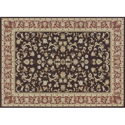 Welbourne Coffee/Paprika Area Rug Rug Size: Rectangle 53 x 77