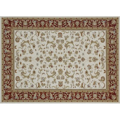 Welbourne Ivory/Red Area Rug Rug Size: 310 x 57