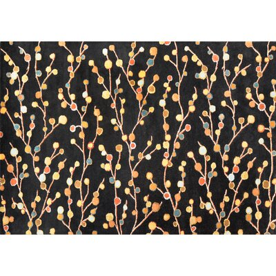Willow Hand-Tufted Black Area Rug Rug Size: Rectangle 5 x 76
