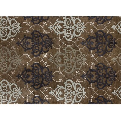 Yakima Hand Tufted Brown Area Rug Rug Size: 36 x 56