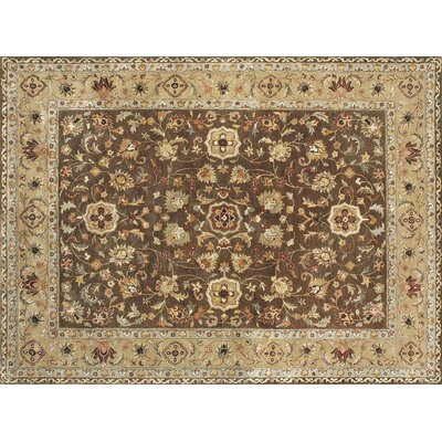 Yorkshire Hand-Tufted Brown/Camel Area Rug Rug Size: 5 x 76