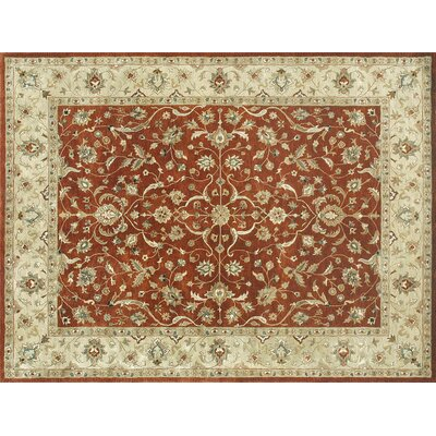 Duren Hand Tufted Wool Rust/Taupe Area Rug Rug Size: Rectangle 710 x 11