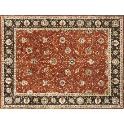Yorkshire Hand-Tufted Rust Area Rug Rug Size: Round 710