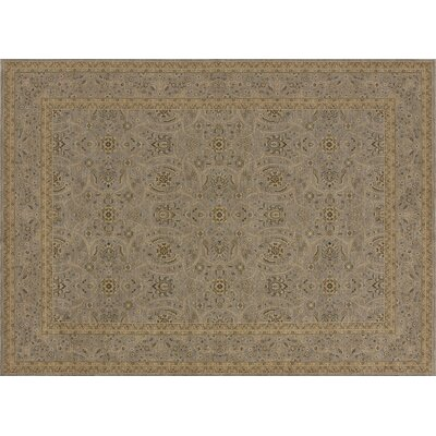 Stanley Gray Area Rug Rug Size: Round 77