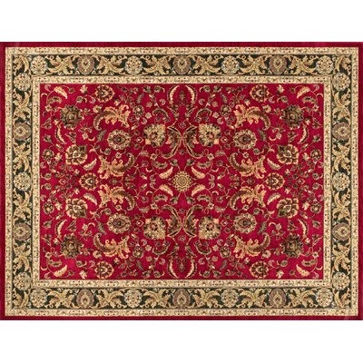 Stanley Red/Beige Area Rug Rug Size: 39 x 56