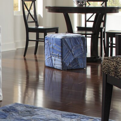 Runway Cotton Cube Ottoman Size: 1-4 X 1-4 CUBE