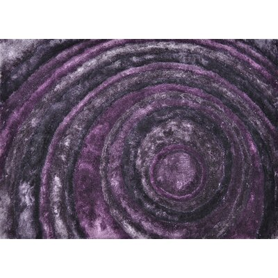 Kos Hand-Tufted Purple Area Rug Rug Size: Rectangle 5 x 76